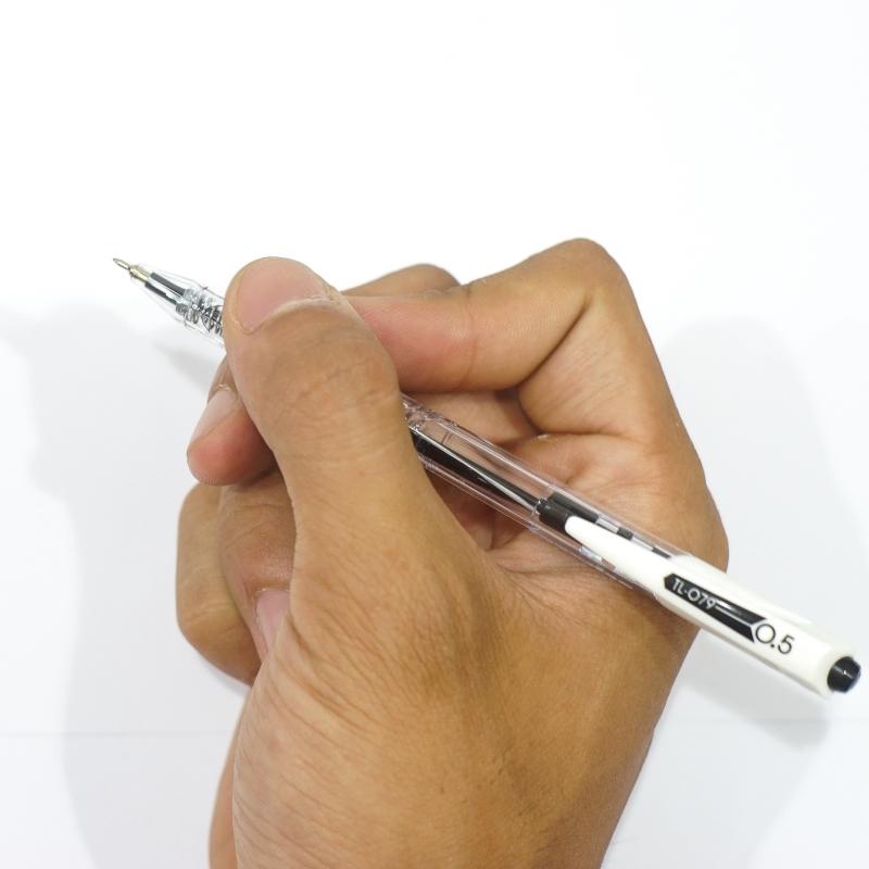Bộ 6 Bút Bi TL079 - Treeden - Mực Đen - Thân Đen