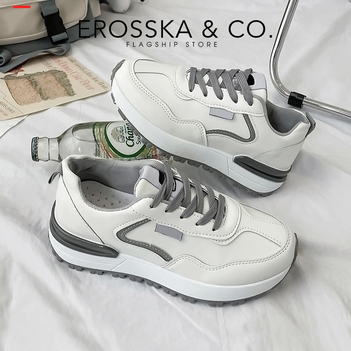Giày thể thao nữ thời trang Erosska dáng trơn đế răng cá tính năng động ES007