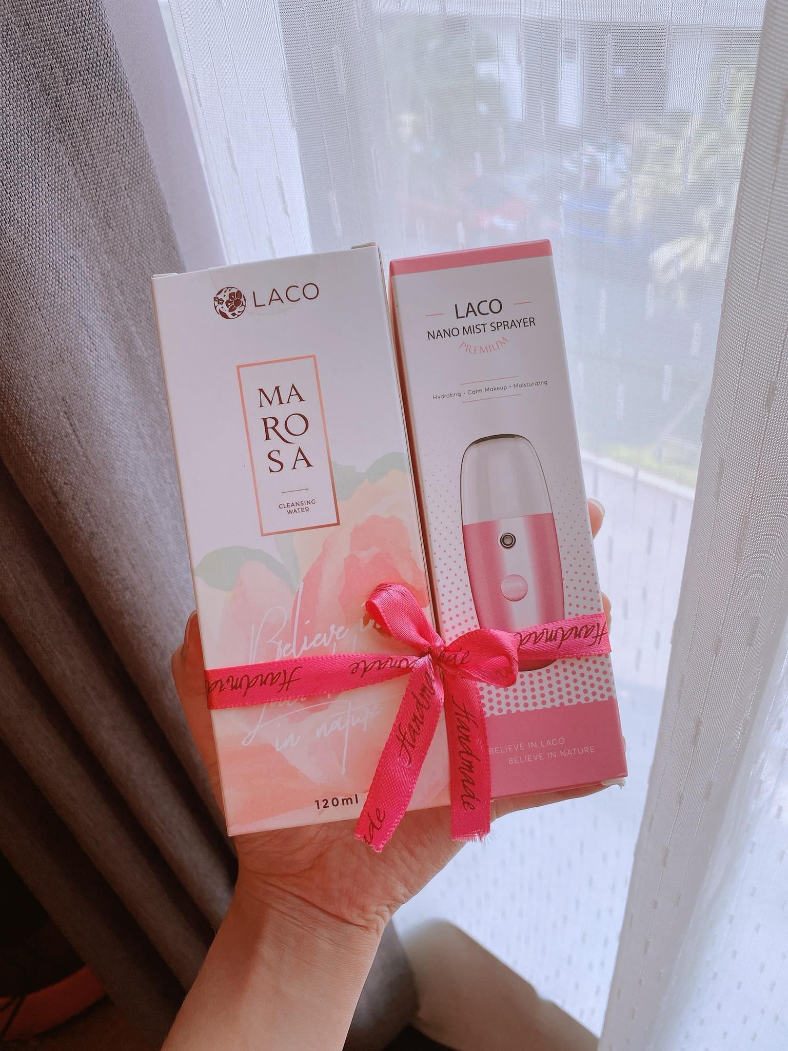 Combo Marosa Toner DNA Cá hồi + Laco Nano Facial (Nước hoa hồng Laco + Máy phun sương cầm tay Laco)