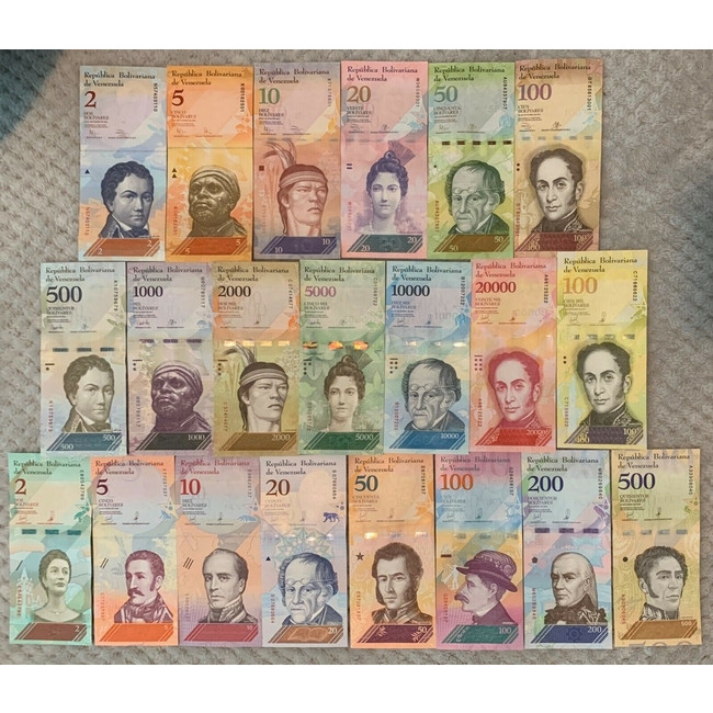 Bộ tiền Venezuela xưa gồm 21 tờ tiền sặc sở đẹp mắt [SƯU TẦM TIỀN XƯA]