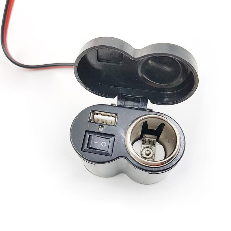 Bộ phụ kiện chế sạc điện thoại trên xe máy V6