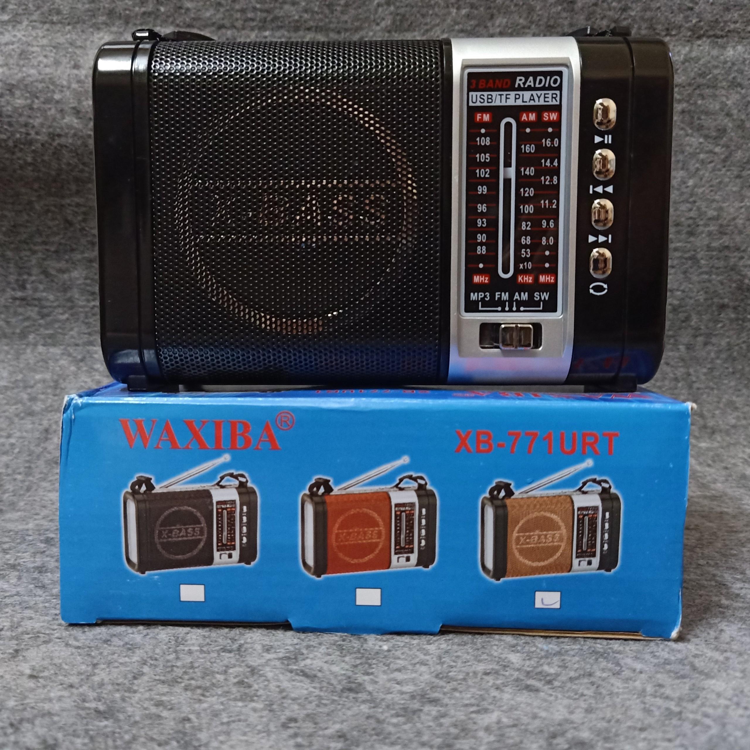 Đài LOA  EXTRA BASS CÓ ĐÈN PIN LED, USB NGHE NHẠC THẺ NHỚ WAXIBA XB-771URT RADIO AM FM SW THEO KÈM PIN SẠC - Giao màu ngẫu nhiên - HÀNG CHÍNH HÃNG