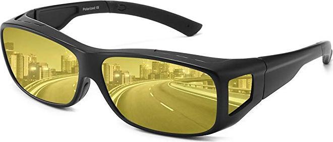 Bộ 2 mắt kính nhìn xuyên đêm, kính râm chống tia UVS, UVB, mắt kính thời trang che bụi, chống lóa