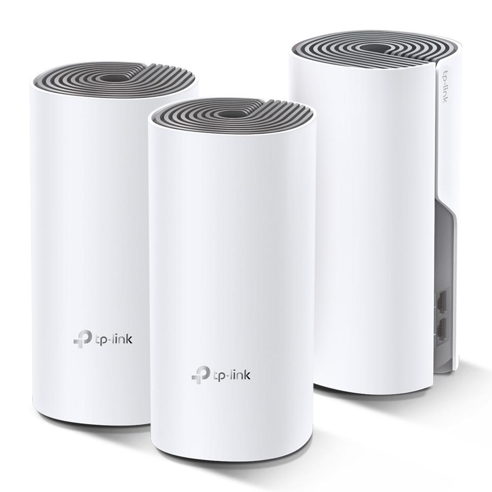 Bộ Phát Wifi Mesh Băng Tần Kép TP-Link Deco E4 AC1200 MU-MIMO (3-pack) - Hàng Chính Hãng