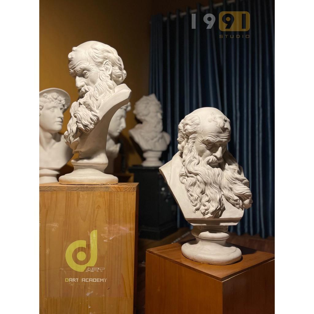 DECOR, Tượng thạch cao, Tượng ôn thi khối V-H, Tượng trang trí moses ông dâu dài. david