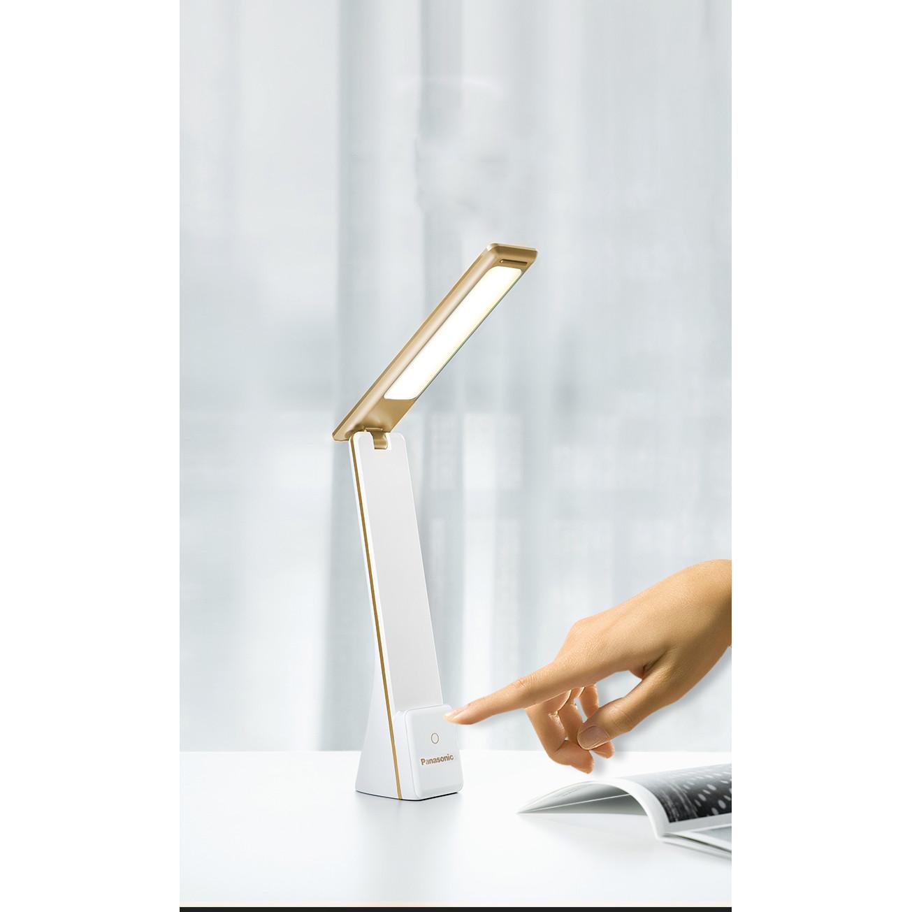 Đèn Led để bàn Panasonic HH-LT0333 tích điện, chống cận, công tác cảm ứng với 3 chế độ sáng (hàng nhập khẩu)