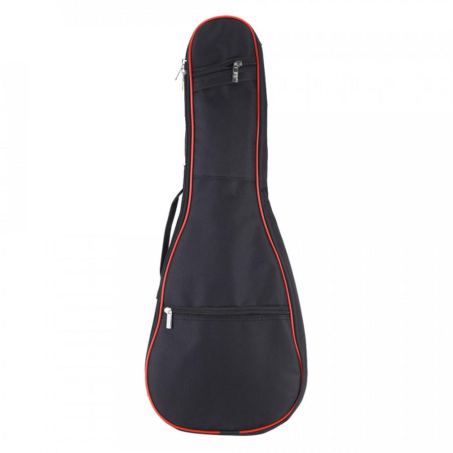 600D Oxford Bag Case Backpack Adjustable Shoulder Strap 8mm Thicken Padding for 24 Ukelele - Black 24