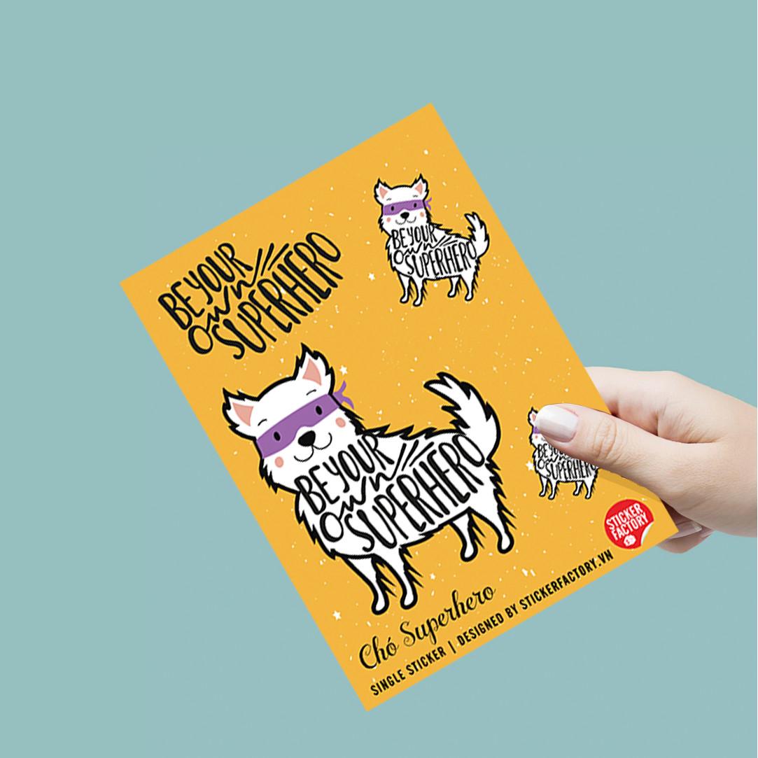 Chó Superhero - Single Sticker hình dán lẻ