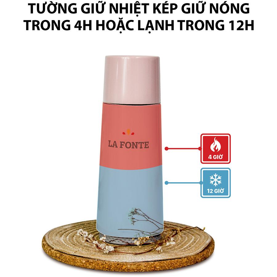 Bình Giữ Nhiệt La Fonte (370ml) Màu Hồng - 000891