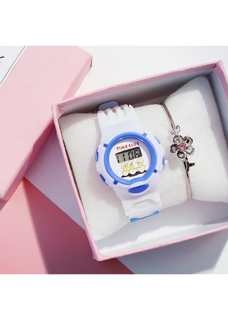 Đồng hồ thời trang thông minh trẻ em điện tử dây cao su siêu bền ZO81