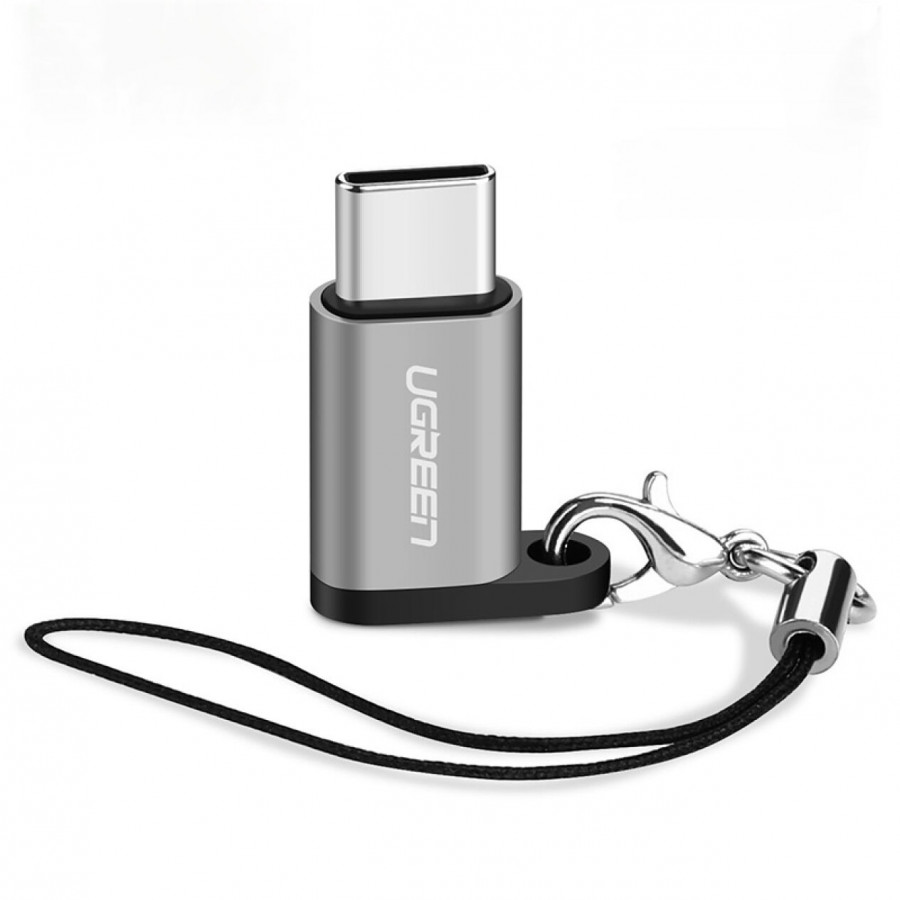 Đầu chuyển đổi USB type C sang Mircro USB hỗ trợ chức năng OTG, sạc và truyền dữ liệu, kết nối các thiết bị ngoại vi... UGREEN US189 40945 - Hàng chính hãng