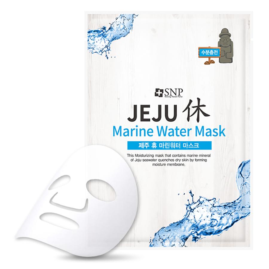 Bộ Mặt Nạ Dưỡng Ẩm Chuyên Sâu Năng Lượng Biển Jeju SNP Jeju Marine Water Mask (10 Miếng)