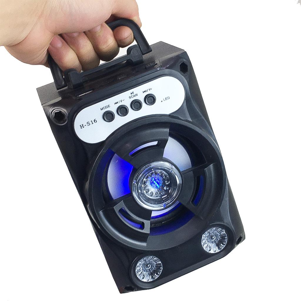 Loa Bluetooth Xách Tay Mini  XR-16 Âm Thanh Siêu Trầm LED Nháy Theo Nhạc