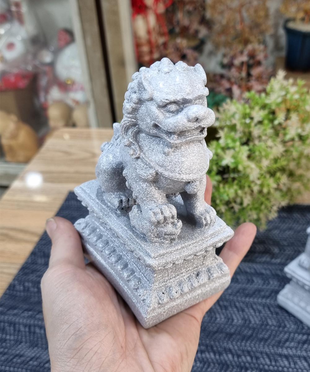 Bộ 02 tượng Kỳ Lân giả đá size 12cm