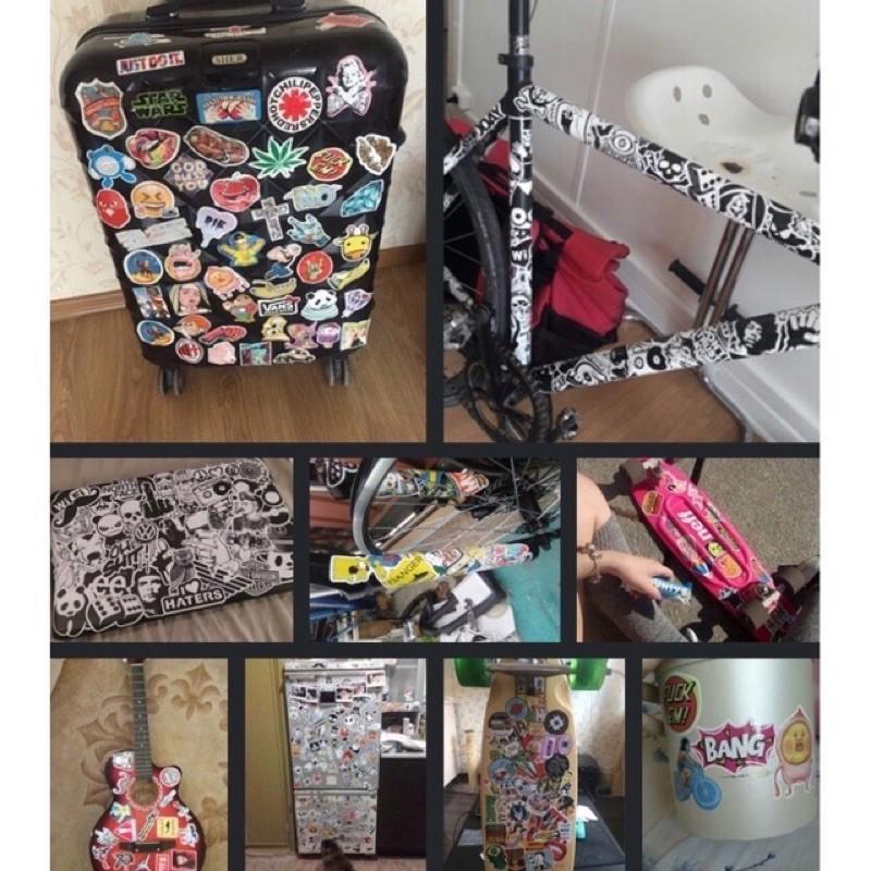 20 Miếng Sticker hình dán trang trí Xe, NBH, Vali, Laptop, Cpu ( Giao Ngẫu Nhiên )