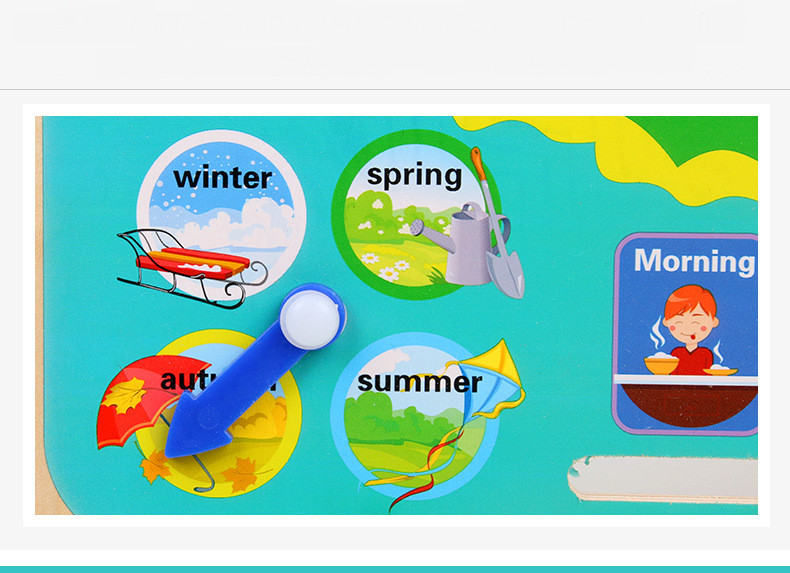 Đồ chơi Gỗ Đồng hồ và Lịch kỹ thuật số hình chú ếch xanh đa chức năng 7 trong 1 cho bé phát triển tư duy