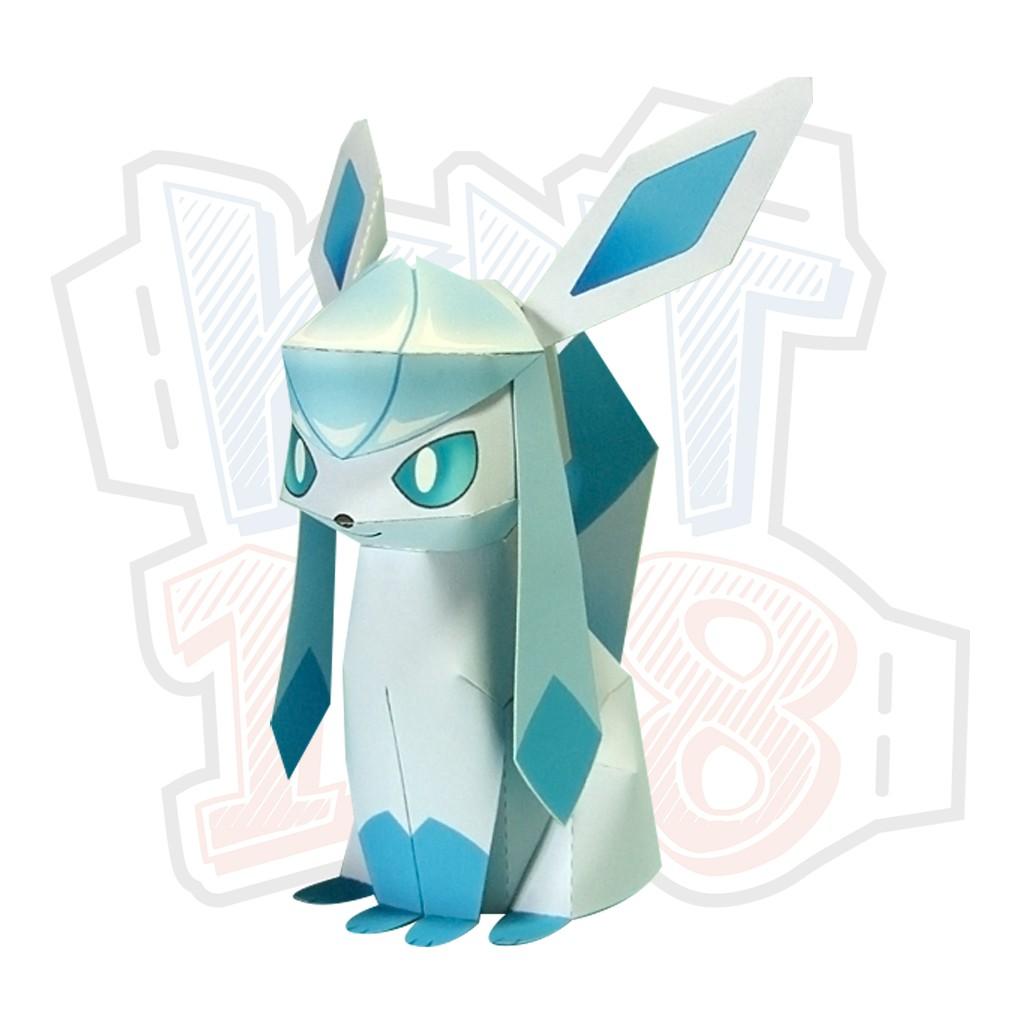 Mô hình giấy Anime Pokemon Glaceon