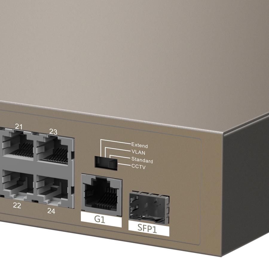 PoE Switch Tenda TEF1126P - Hàng Chính Hãng