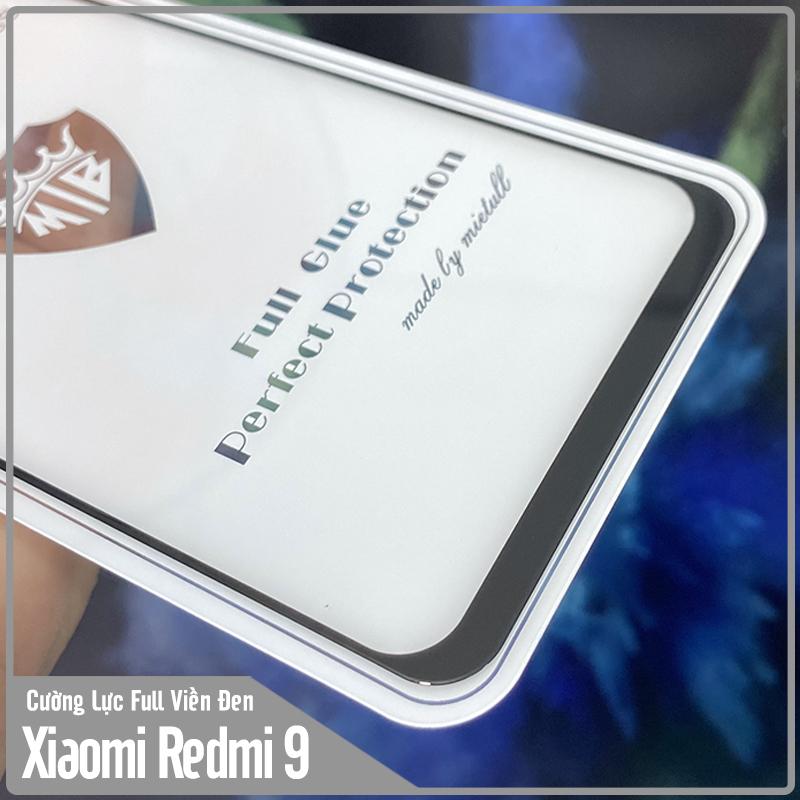 Kính cường lực cho Xiaomi Redmi 9 Full viền Đen