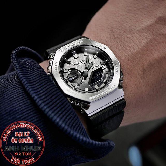 Đồng hồ nam dây nhựa Casio G-Shock chính hãng GM-2100-1ADR