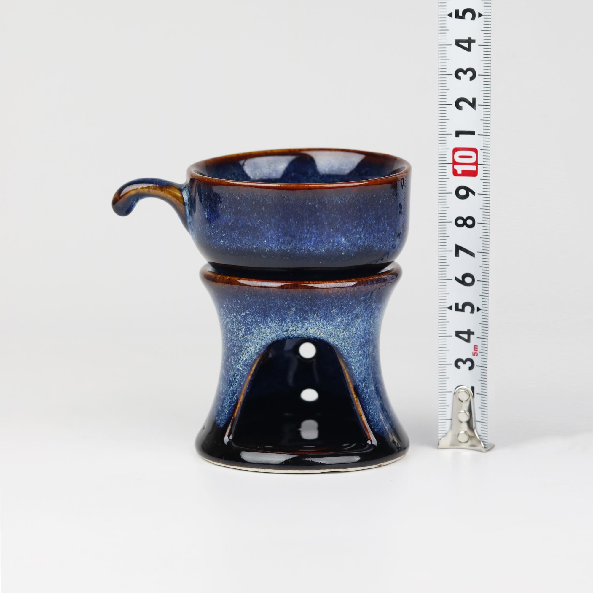 Bộ Ly Hâm Nóng Cafe Men Hỏa Biến Bát Tràng Cao Cấp - Khử kim loại nặng