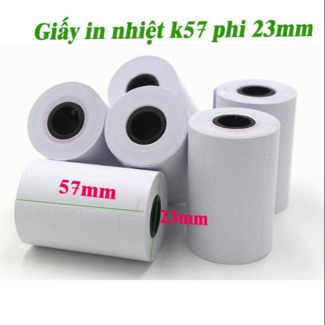 Combo 20 cuộn giấy in hoá đơn k57 phí 23