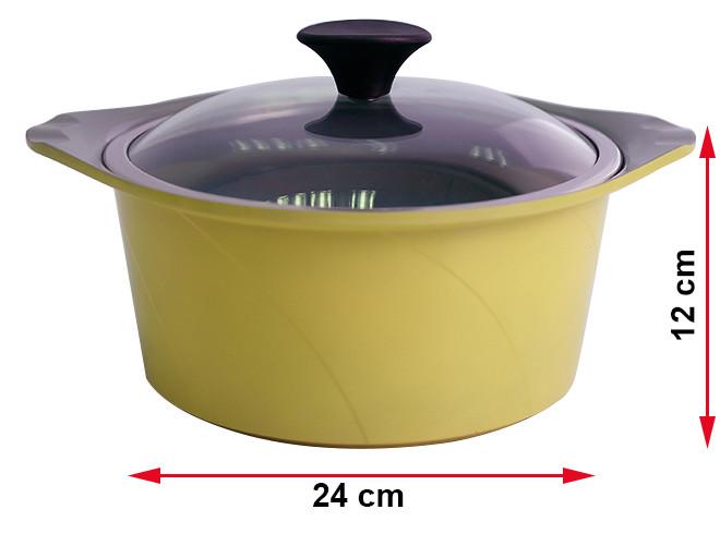 Bộ 4 Nồi Gốm Ceramic Chống Dính Đáy Từ Goldsun Công Nghệ Hàn Quốc Korea Star AD06-2-4108AG-IH Dùng Mọi Bếp - Chính Hãng