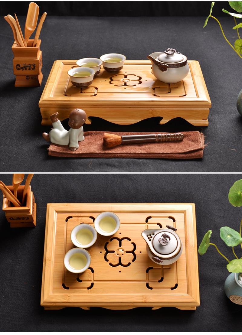 Khay trà mai hoa