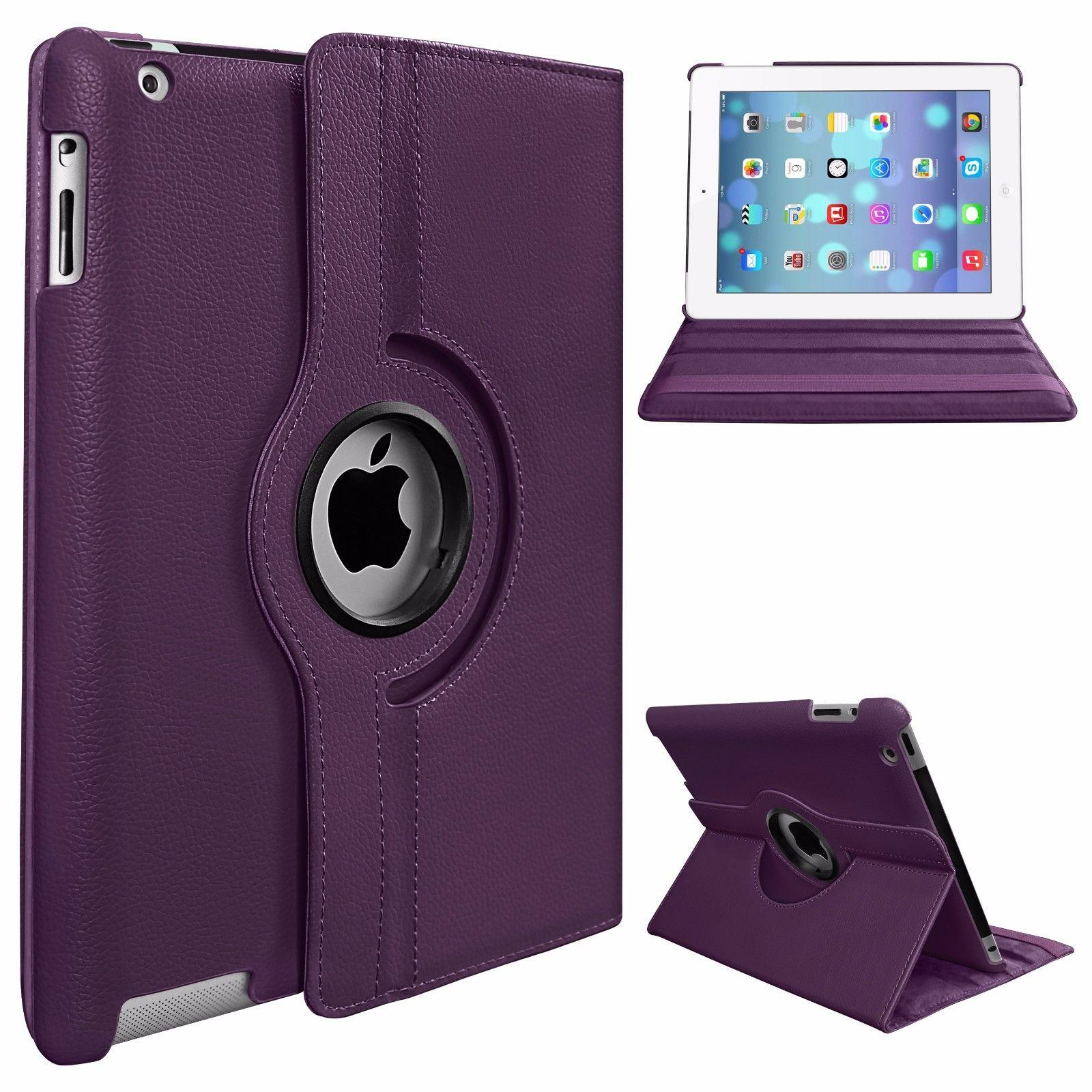 360 Degree Rotating Stand PU Leather Case Cover for Apple iPad2 iPad3 iPad4 - Violet - 23761536 , 1810318250412 , 62_22819429 , 177000 , 360-Degree-Rotating-Stand-PU-Leather-Case-Cover-for-Apple-iPad2-iPad3-iPad4-Violet-62_22819429 , tiki.vn , 360 Degree Rotating Stand PU Leather Case Cover for Apple iPad2 iPad3 iPad4 - Violet