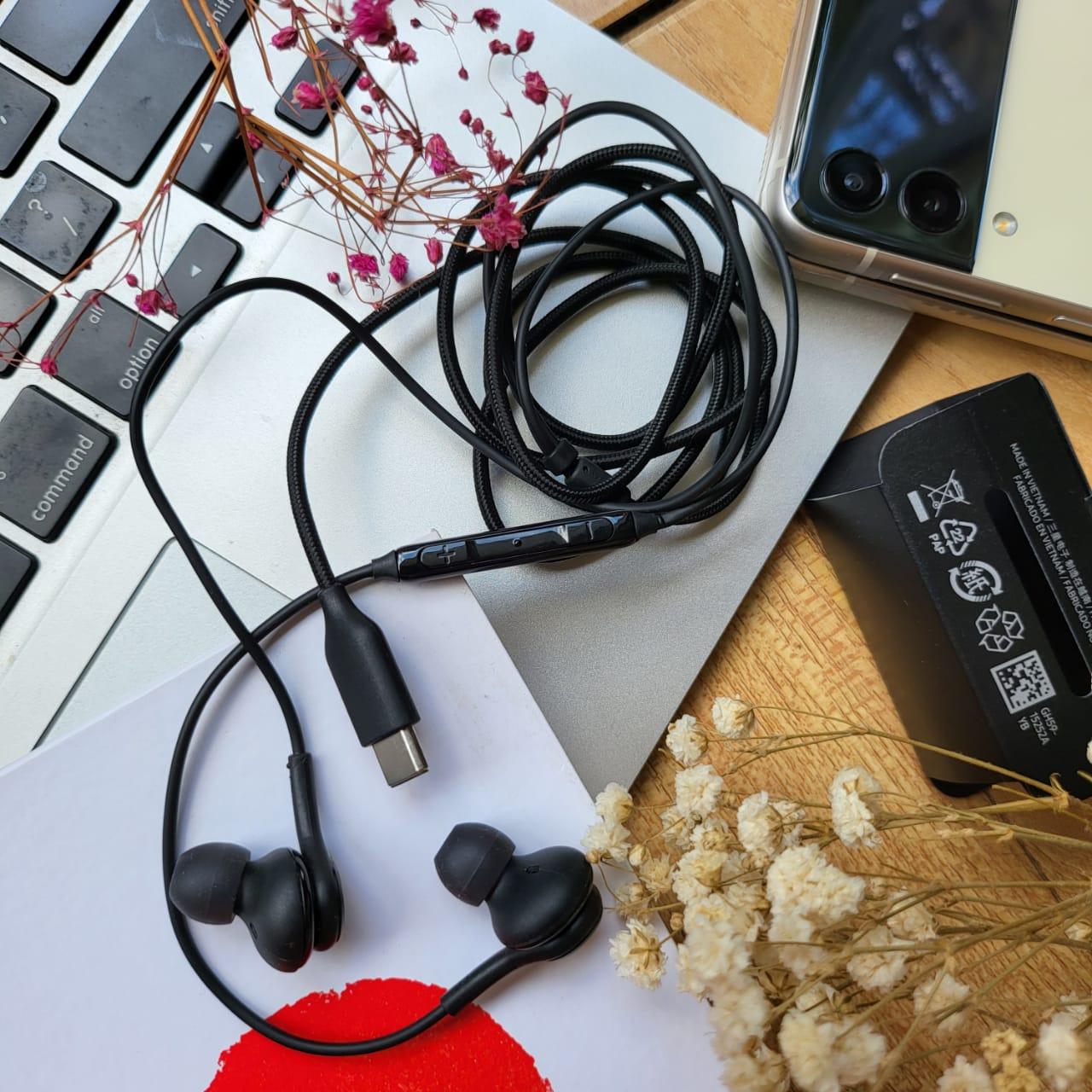 Tai nghe dành cho máy Samsung Z Fold Siries, Note 20 Siries, S21 Siries, S20/S20 Plus, Note 10/Plus - Chân Cắm Type C - Âm thanh sống động