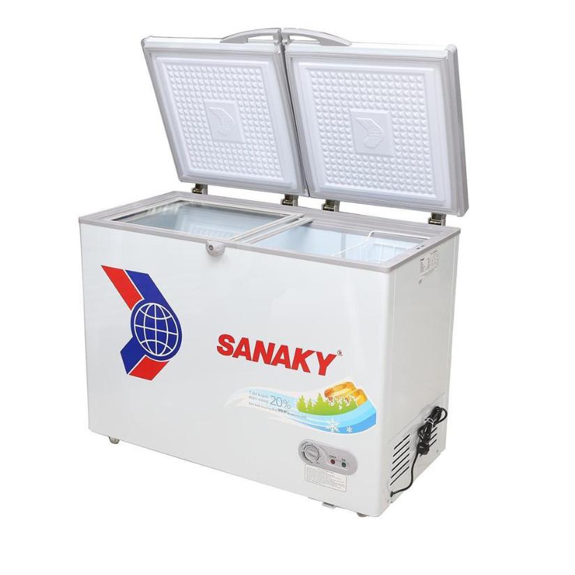 Tủ Đông Dàn Đồng Sanaky VH-2299W1 ( 2 Chế Độ Đông, Mát 220 Lít ) - Hàng Chính Hãng