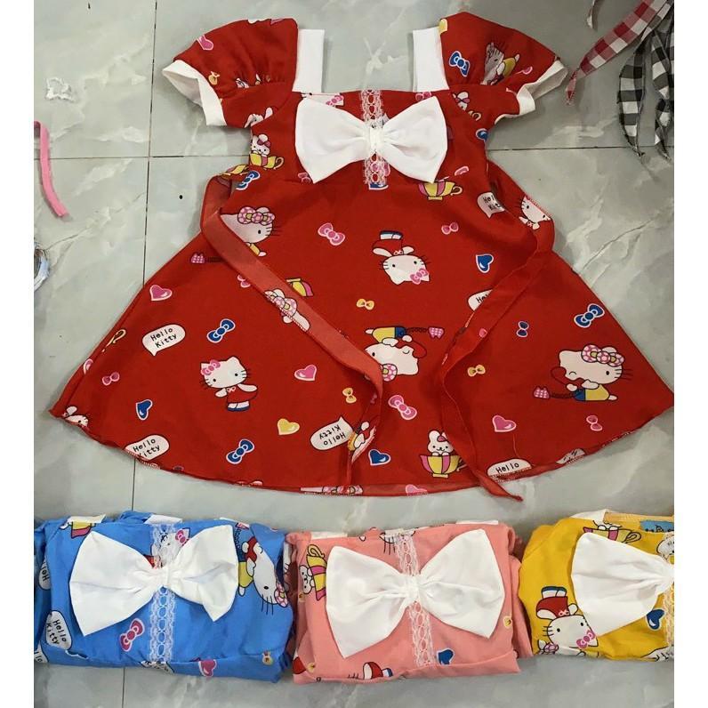 Đầm lụa và thun cho bé từ 8-16kg