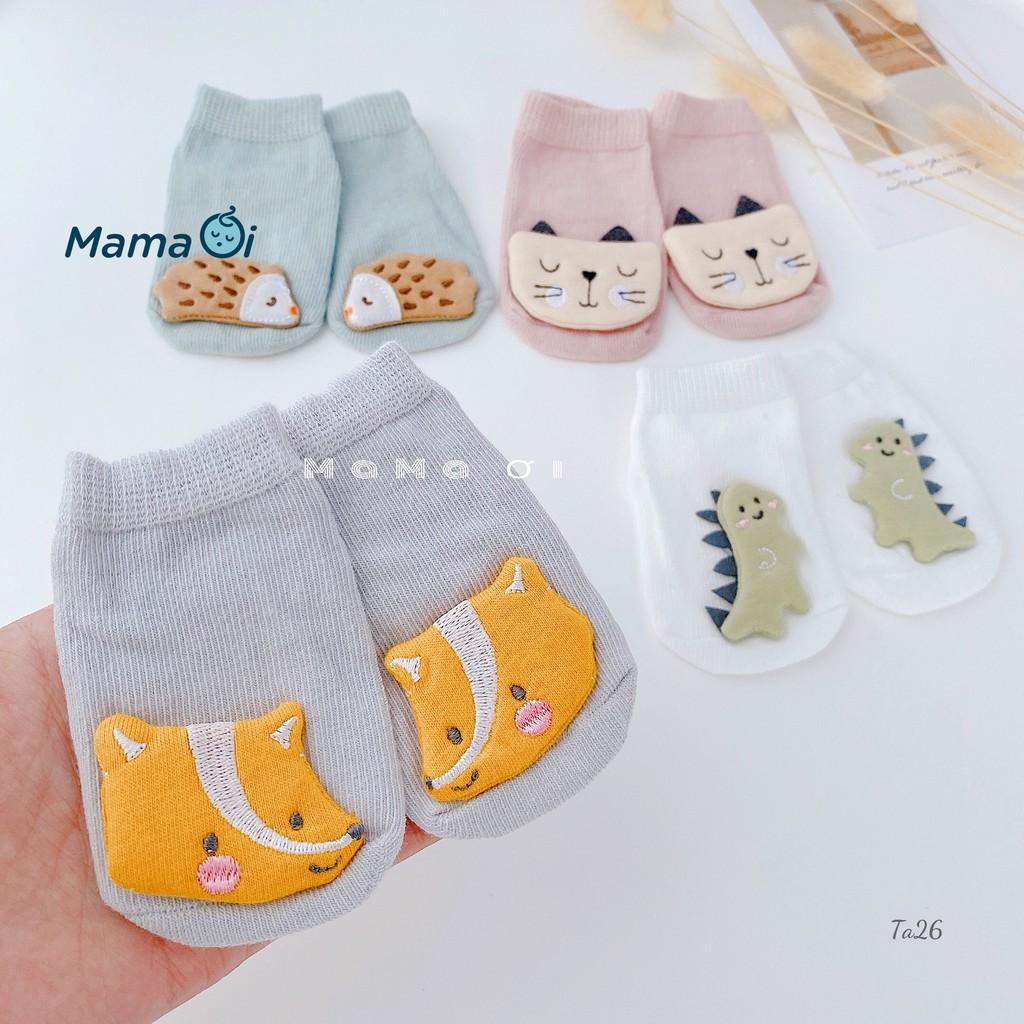 Tất cho bé tập đi chống trượt kiểu dáng dễ thương chất liệu mềm mại an toàn cho bé của Mama Ơi