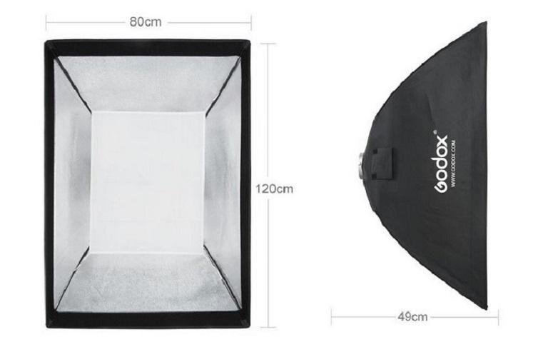 Softbox tổ ong Godox 80x120cm hàng chính hãng.