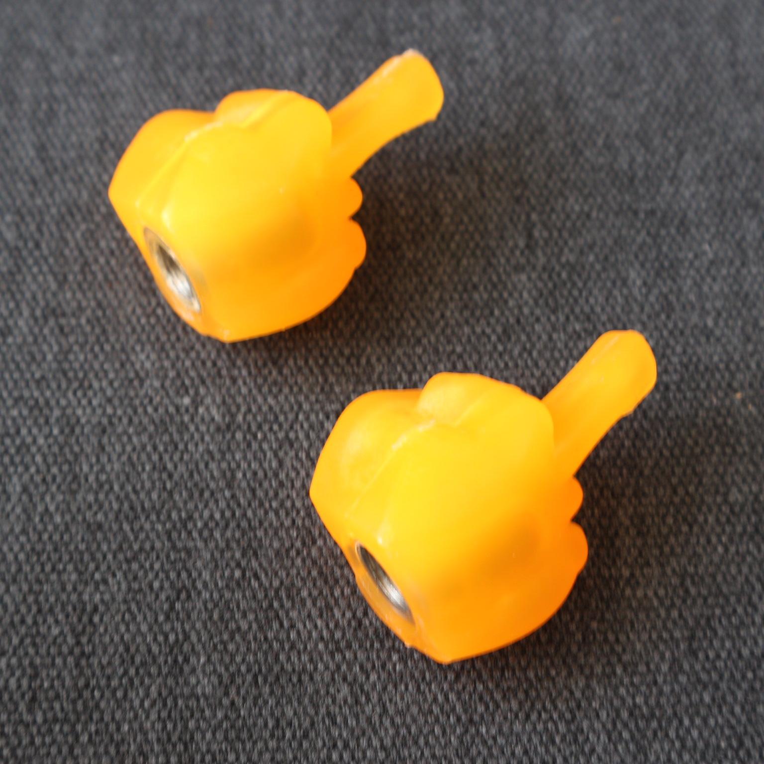 Van vòi xe máy kiểu 1 ngón tay ( màu cam)
