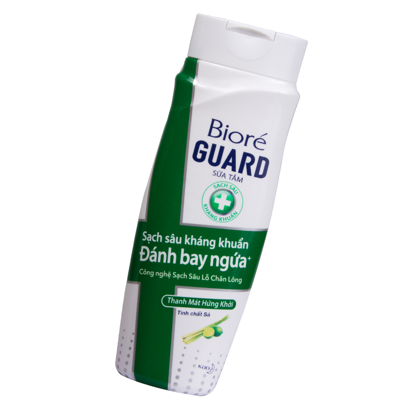 Sữa Tắm Sạch Sâu Kháng Khuẩn Thanh Mát Hứng Khởi Biore Guard 220g
