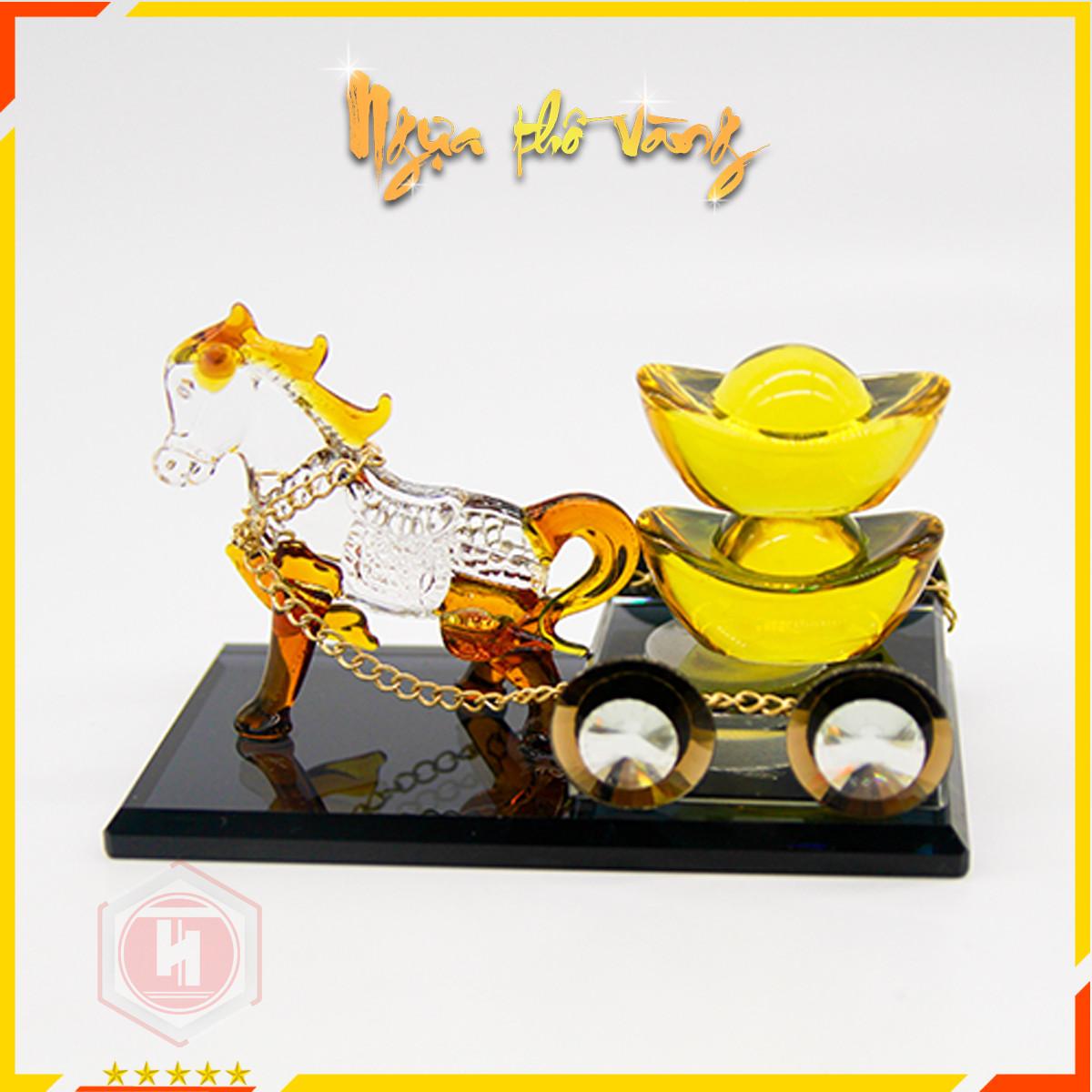 Nước Hoa Ngựa thồ vàng - HT SYS -Linh vật mang lại tài lộc, công danh thăng tiến - Vật phẩm phong thủy may mắn