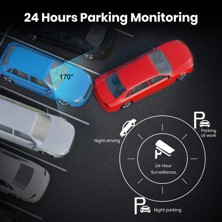 Camera hành trình màn hình 10 inch đặt taplo ô tô nhãn hiệu Whexune V900 Ram 4G, Rom 32G tích hợp cam lùi, 4G, wifi, android 8.1 - Hàng Nhập Khẩu