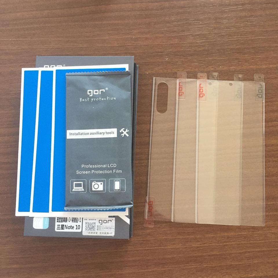 Bộ 3 miếng dán Samsung Galaxy Note 10 hiệu GOR - Hàng Nhập Khẩu