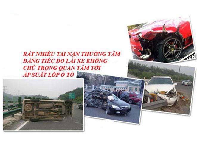 Bộ van báo áp xuất lốp ô tô (4 cái lõi đồng) tiện lợi