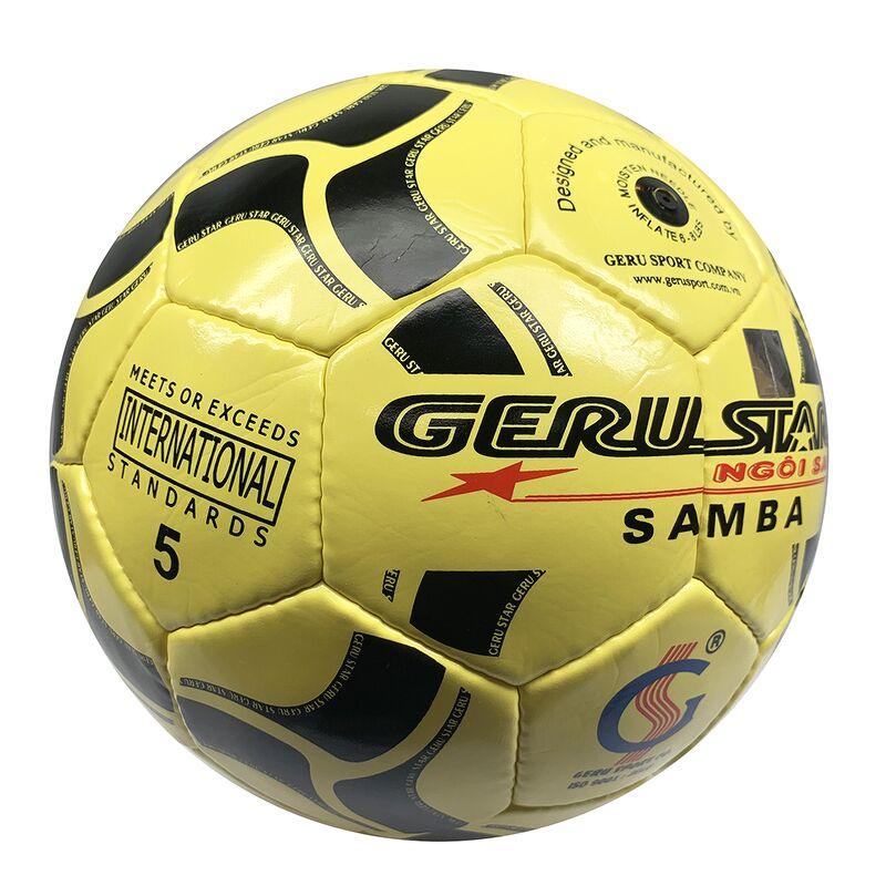 Bóng đá Gerustar Size 5 Samba PVC - Vàng (Tặng Băng dán thể thao + Kim bơm + Lưới đựng)