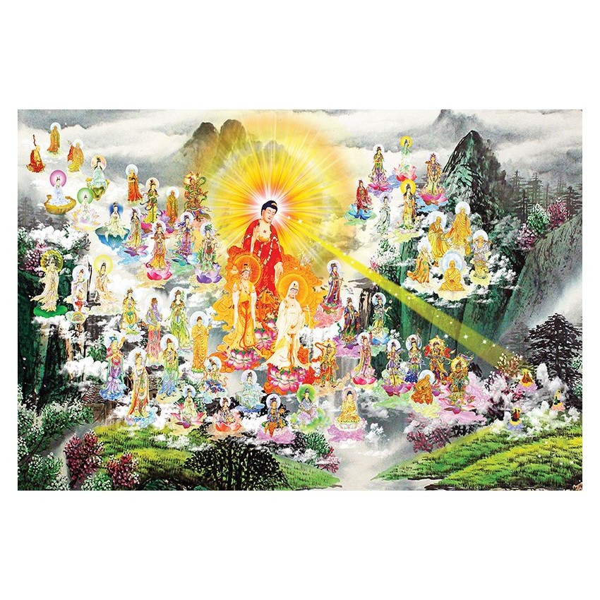 Tranh Phật Giáo Tây Phương Tiếp Dẫn 2468