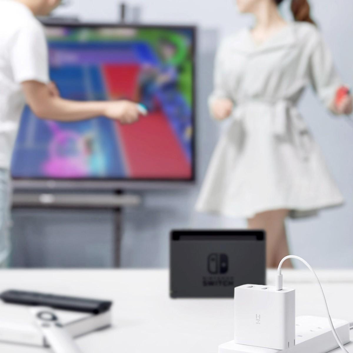 Bộ Sạc Điện Thoại Di Động 3 Trong 1 Xiaomi 65W ZMI HA832 - Hàng Nhập Khẩu