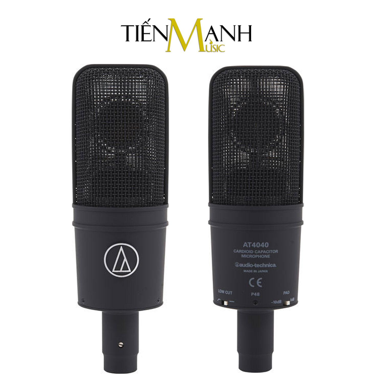[Tặng Cable Canon 3m] Audio Technica AT4040 Mic Condenser Thu Âm Phòng Studio, Micro Biểu Diễn Chuyên Nghiệp Microphone Cardioid AT-4040 Hàng Chính Hãng Japan - Kèm Móng Gẩy DreamMaker