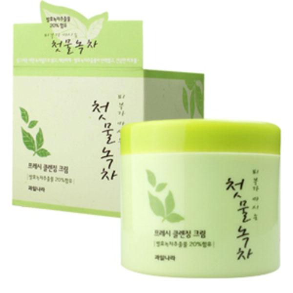 Kem tẩy trang trà xanh sạch sâu Welcos Green Tea Fresh Cleansing Hàn Quốc 300g tặng kèm móc khóa
