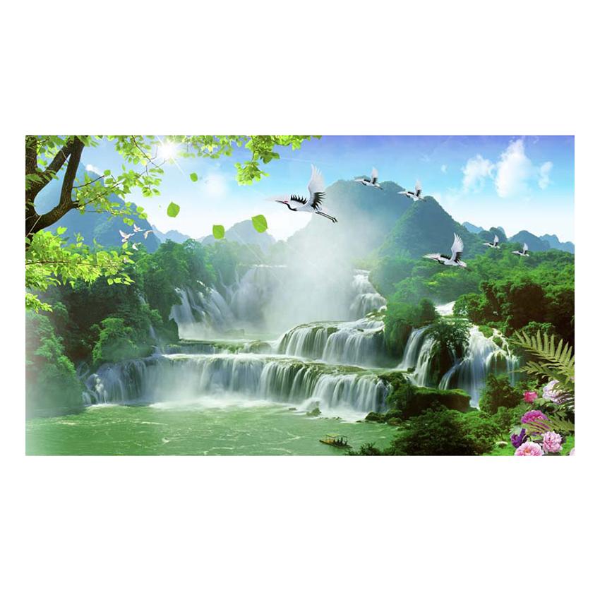 Tranh Dán Tường Thác Nước 3D WN0231