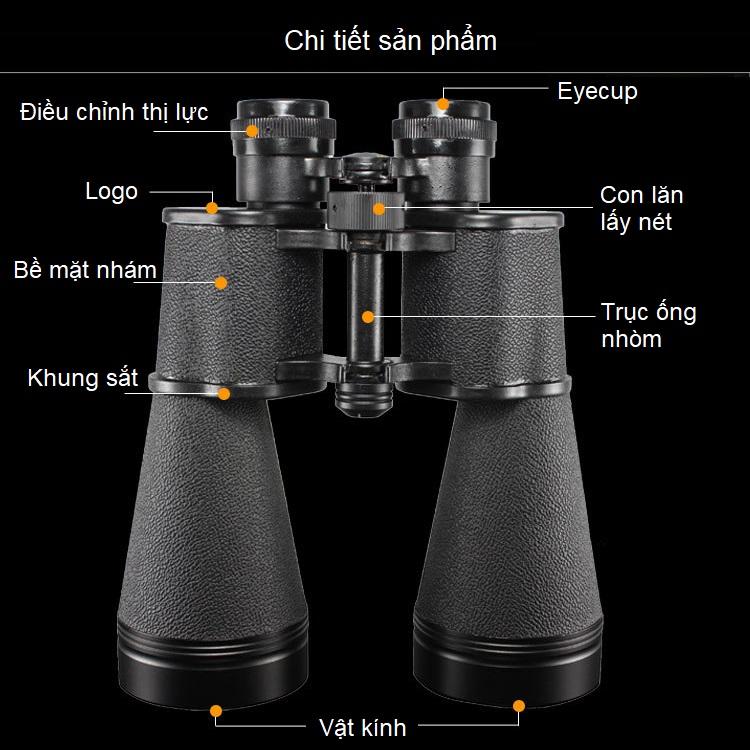 Ống nhòm quân đội cao cấp chuyên dụng độ phóng đại 15 lần, đường kính 60mm (Chống thấm nước, chịu nhiệt tốt, siêu nét)- (Tặng la bàn chỉ đường bỏ túi đa năng)