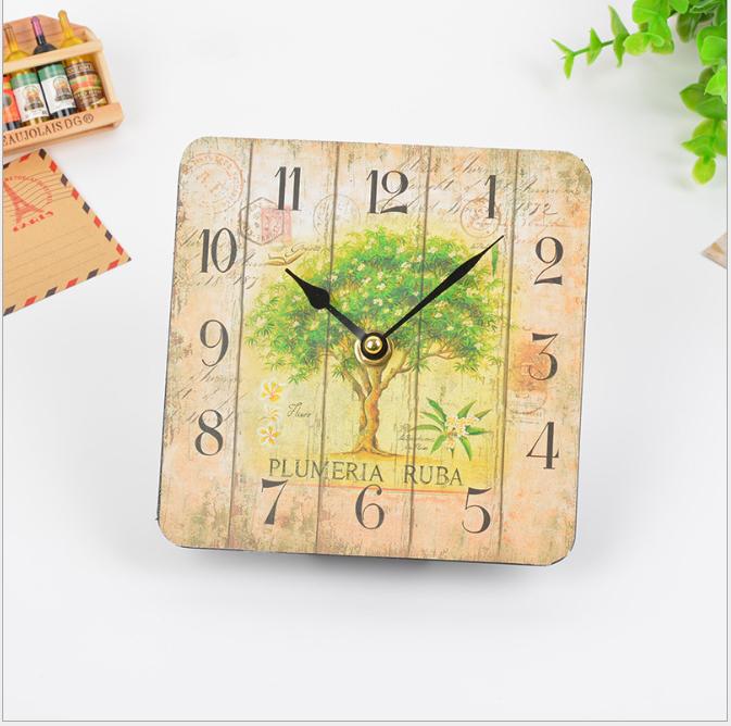 Đồng hồ treo tường Vintage Phong cách Châu Âu hình vuông DH08