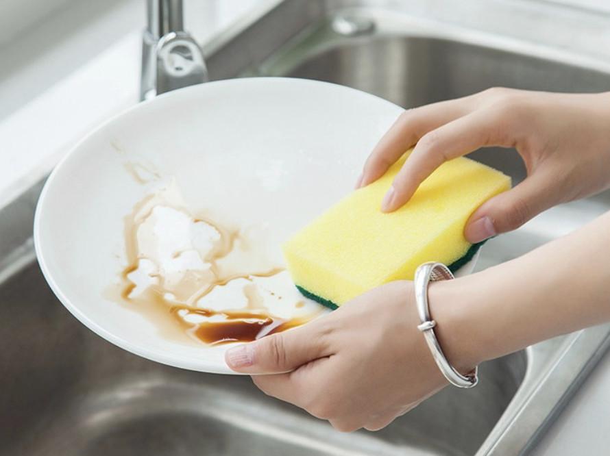 [COMBO 3 Chiếc] Miếng cọ rửa chén bát xanh vàng tiện dụng