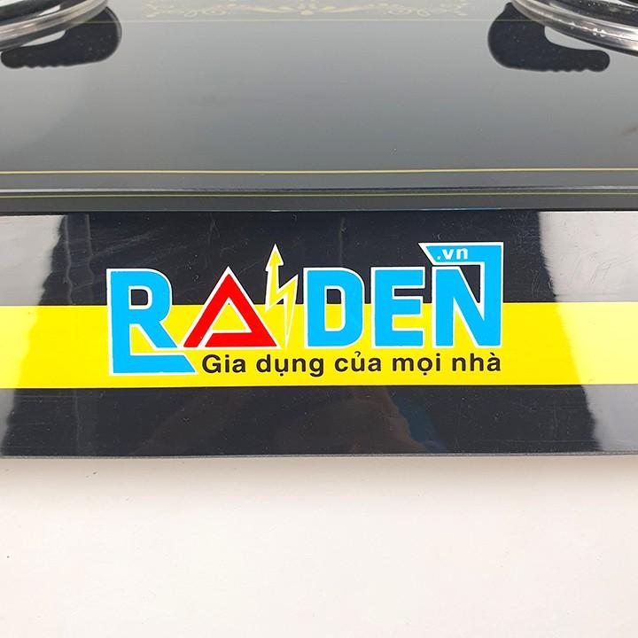 Bếp ga đôi điếu hồng ngoại tiết kiệm ga Raiden kiếng cường lực-hàng chính hãng